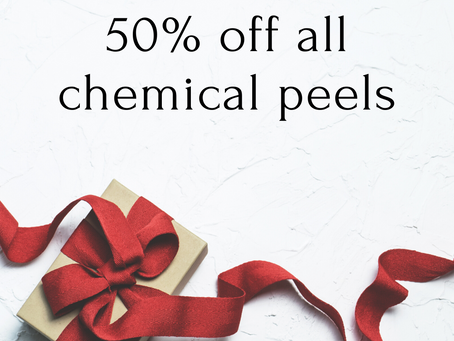 50% off ALL chemical peels!