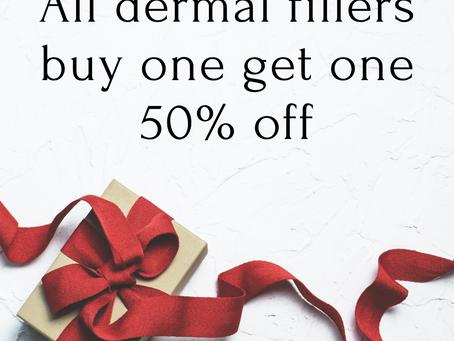 ALL Dermal Fillers - buy one get on 50% OFF