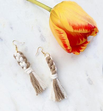 Macrame Tassel Earrings