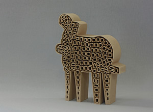 Allegorical Figure-5, ceramics, Hasan Sahbaz
