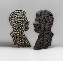 Face to Face / self-portrait