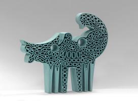 Allegorical Figure - VI / Turquise Bird