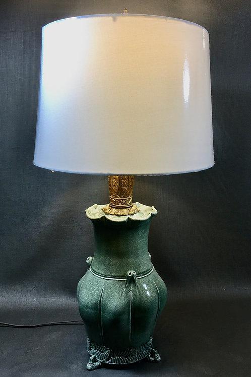 CELADON SEGMENTED LAMP #1 by Steve Liggett