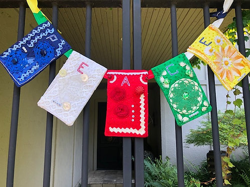 Prayer Flag 1 - Cast Your Fate to the Wind by Janis Updike Walker