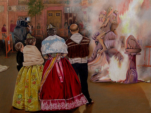 Burning of the Ninot by Cynthia Marcoux