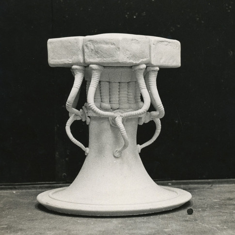 BRICK CLAY STOOL - 1975