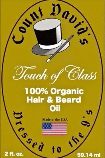 Count David's 100% Organic Hair & Beard Oil