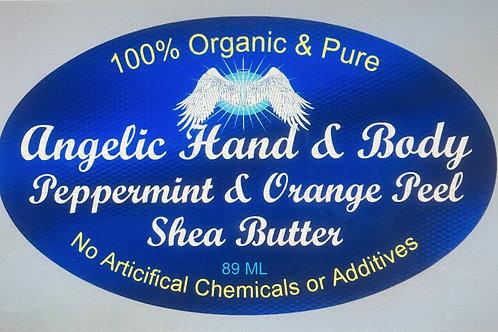 Organic Peppermint & Orange infused Shea Butter