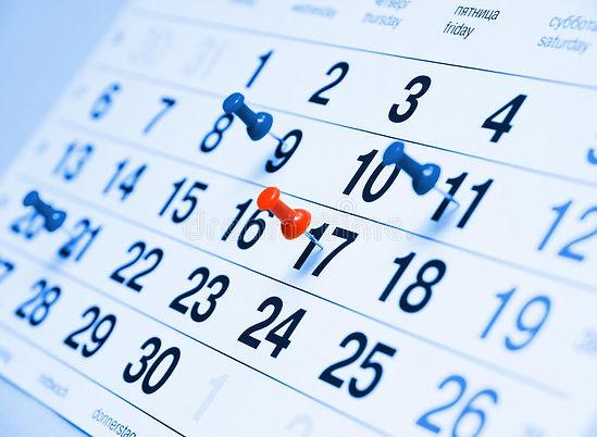 calendar-page-closeup-blue-toned-drawing