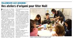 Atelier origami Villeneuve