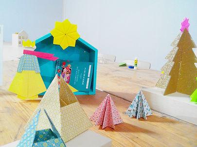 Atelier décorations de Noël en origami, Ateliers créatifs Noël Bouches-du-Rhône, Gard, Vaucluse