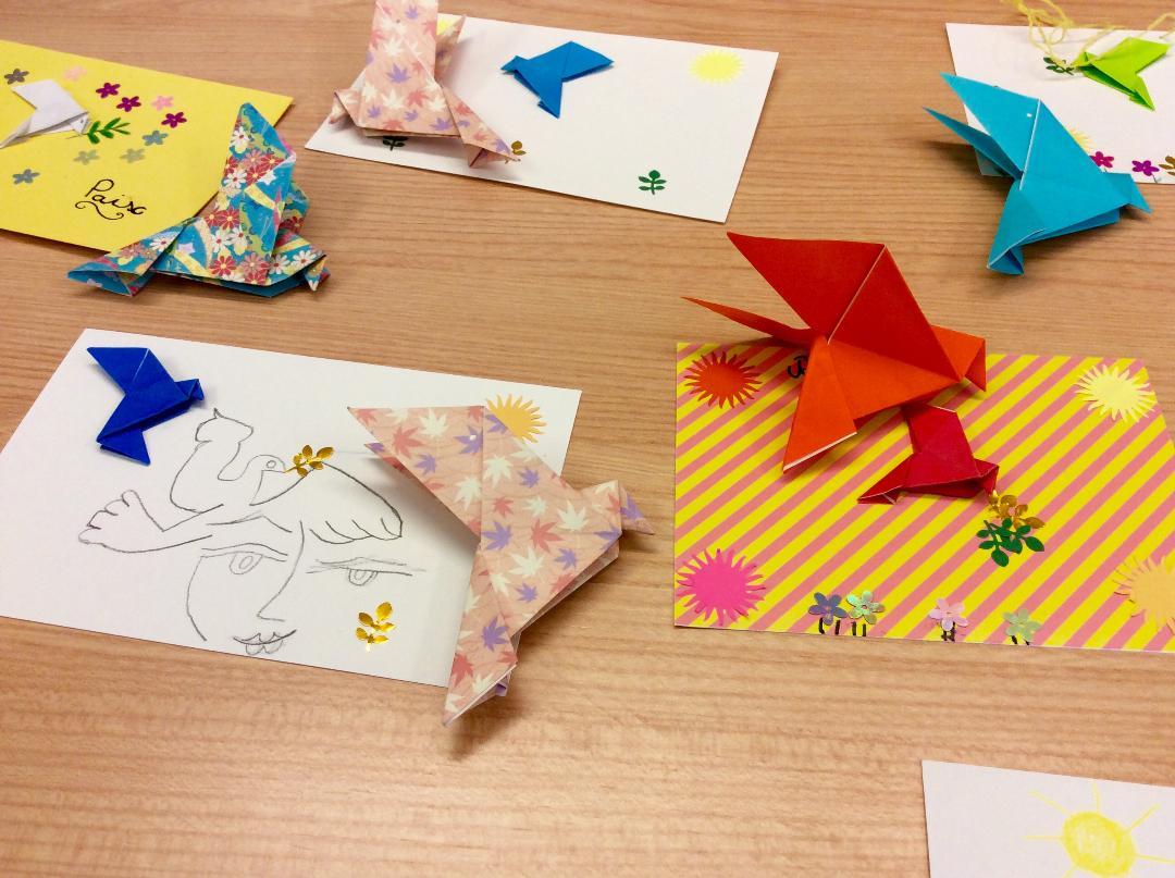 Un origami pour la paix Avignon