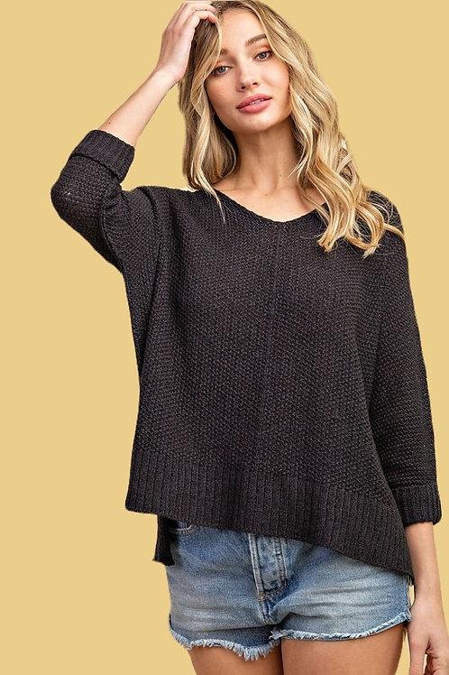 Wear Everywhere Sweater in Black Beauty