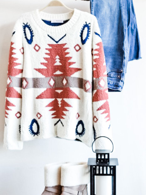 Full of Warmth Aztec Sweater
