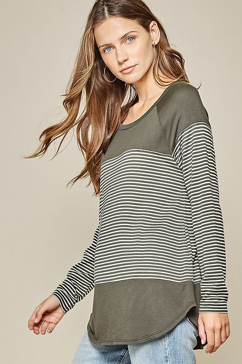 Time For A Change Striped Top