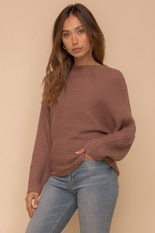 Most Likely To Cuddle Knit Sweater in Mocha