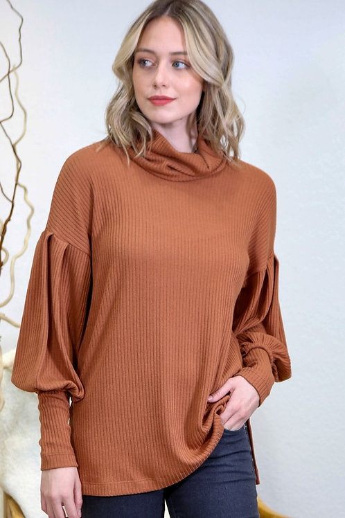 Crisp and Cool Ribbed Knit Tunic