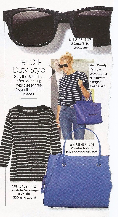 "Glamour Shows Nautical Stripes as Gwyneth's ""Off-Duty Style"""