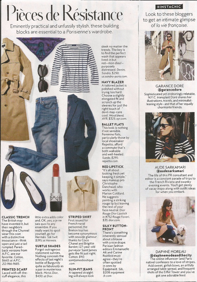 InSTYLE's building blocks for a Parisienne's wardrobe include the perfect striped shirt