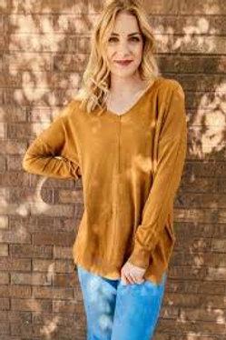 Dreaming of You Sweater in Heather Dark Mustard