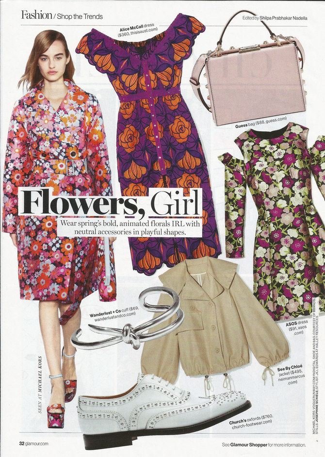 """Glamour says """"Flowers, Girls"""""""