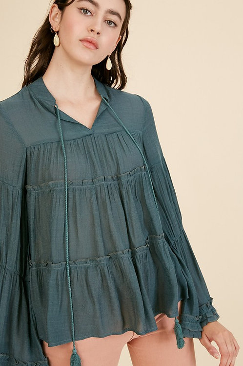 Highlands Tiered Ruffle Top
