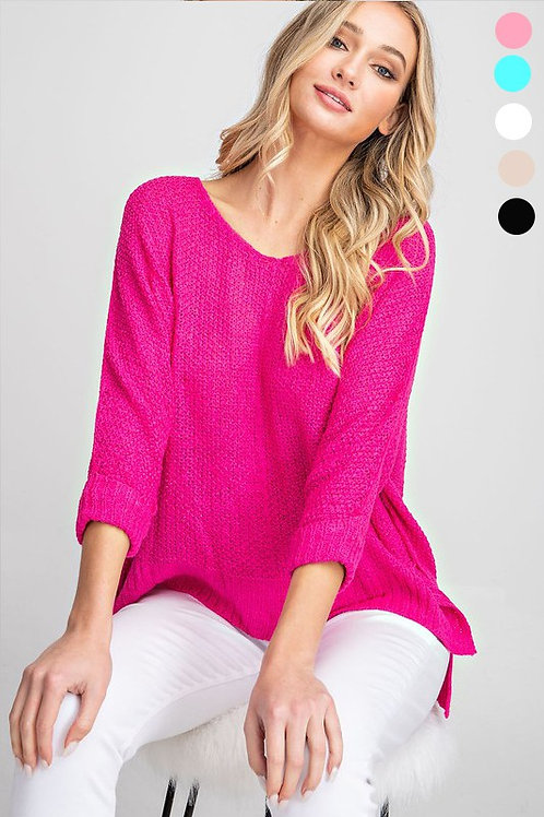 Wear Everywhere Sweater in Plugged-In Pink