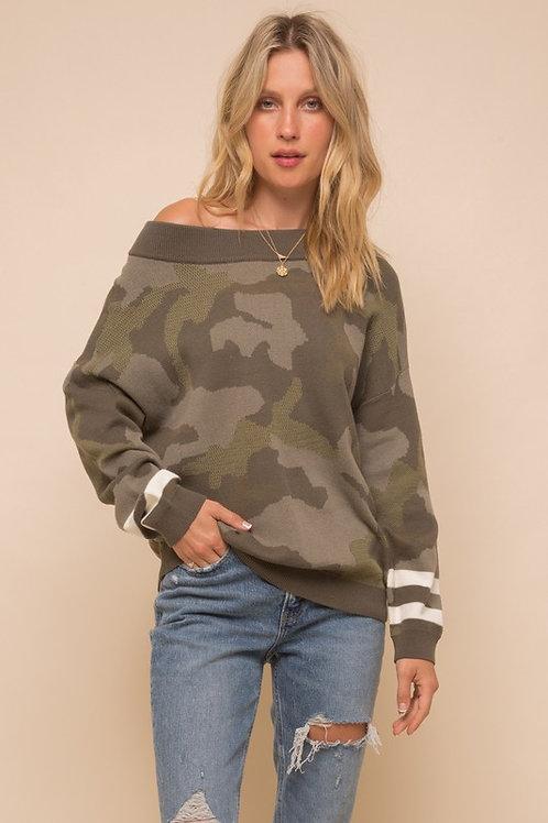 In Plain Sight Camo Sweater
