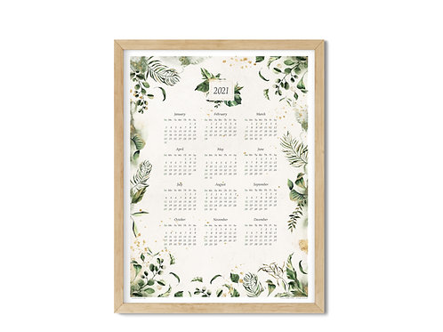 Calendar 2021 - Botanics