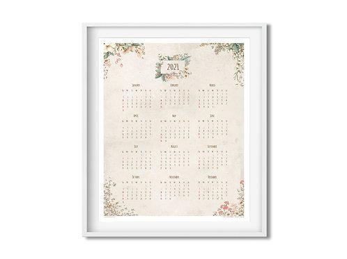Calendar 2021 - Flowers