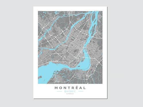 MONTREAL  Grey-Cyan
