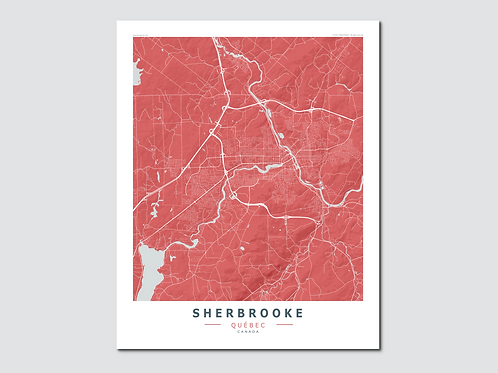 SHERBROOKE Red-Grey