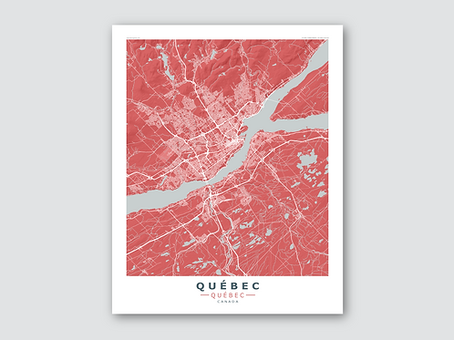 QUEBEC Red-Grey