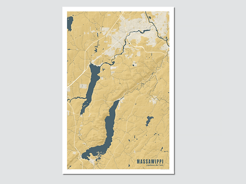 "MASSAWIPPI  Lake- Yellow-Blue ""Sp XL"""