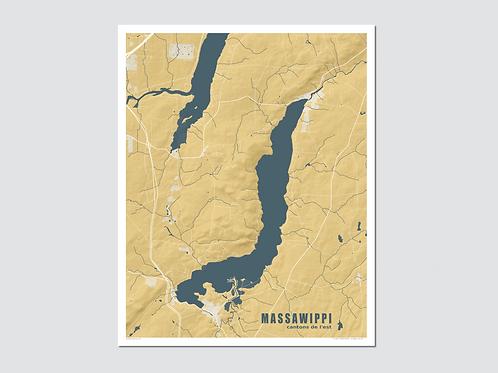 """MASSAWIPPI Lake - Yellow-Blue """"Sp"""""""