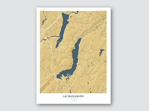 MASSAWIPPI Lake - Yellow-Blue