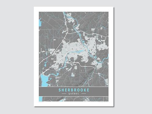 "SHERBROOKE Grey-Cyan ""Sp"""
