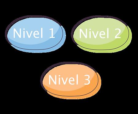 Nivel 1 + Nivel 2 + Nivel 3