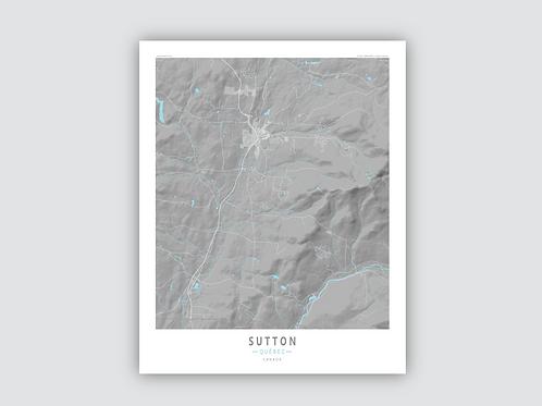 SUTTON Grey-Cyan