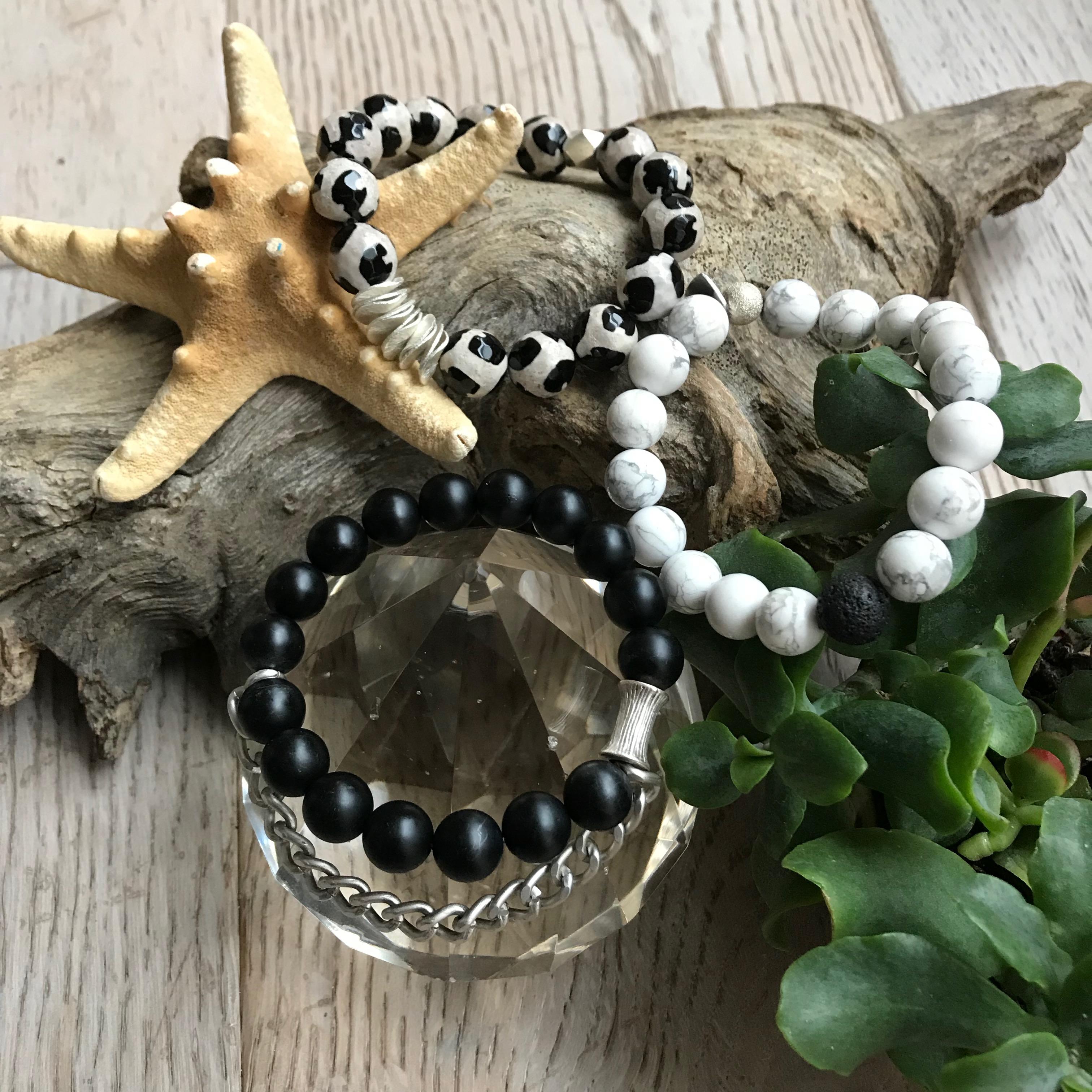 Black White & Silver