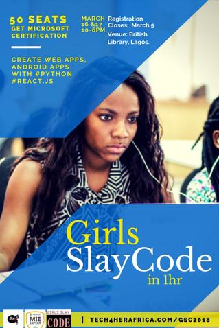 Girls slay code. Register for certification!