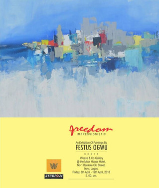 Exhibition alert: enthralling water colour paintings by Festus Ogwu, presented by Weave & Co Gal