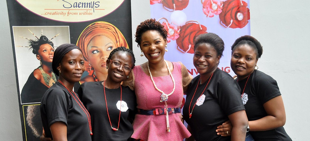 Eniola Salu (Founder, Styles by Saennys) and her team