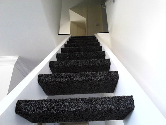Carpet on stairs in Stowmarket