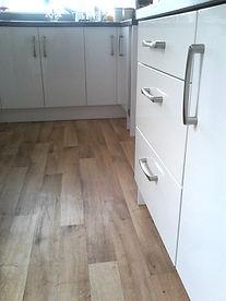 vinyl fitted in kitchen Stowmarket Suffolk