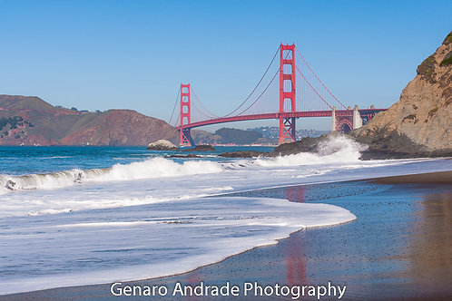 """Golden Gate Bridge 1, Bakers Beach"""