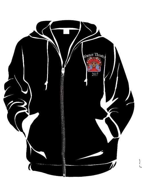 Follies Hooded Zip-up Sweatshirt