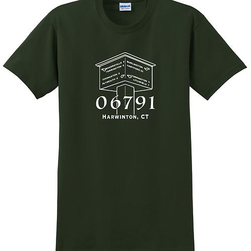 Green Harwinton Shop Local T Shirt