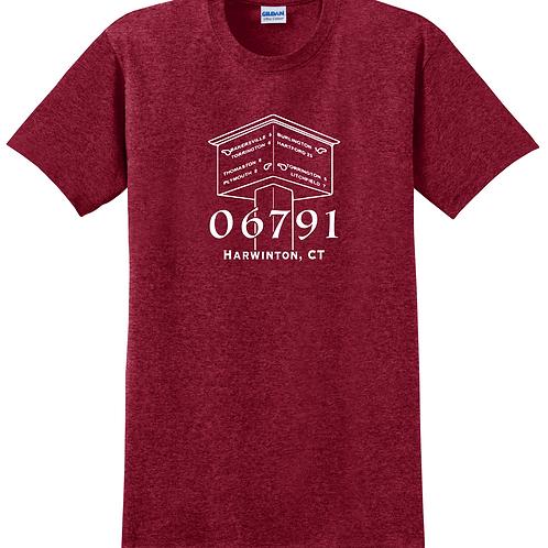 Red Harwinton Shop Local T Shirt