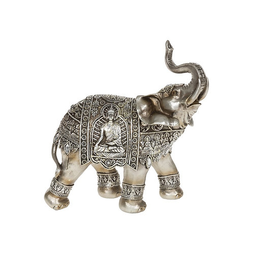 Silver Buddha Elephant